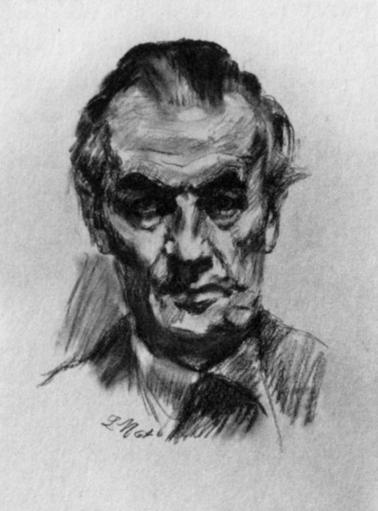 Hans Erich Nossack gezeichnet von Ludwig Meidner, 1964