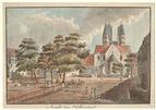 Stadtansicht der Stadt Halberstadt im Jahr 1811