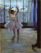 Degas Tänzerin beim Fotografen