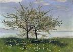 Ferdinand Hodler Bluehender Apfelbaum