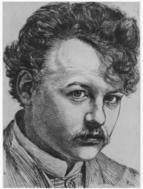 Karl Stauffer Bern Selbstportrait