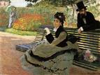 Monet Auf der Gartenbank