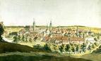 Stadtansicht der Stadt Hof von Johann Gottfried Kippel