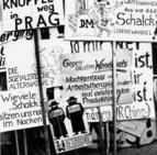 Plakat mit Sprüchen. Fotografie: Stefan Moses